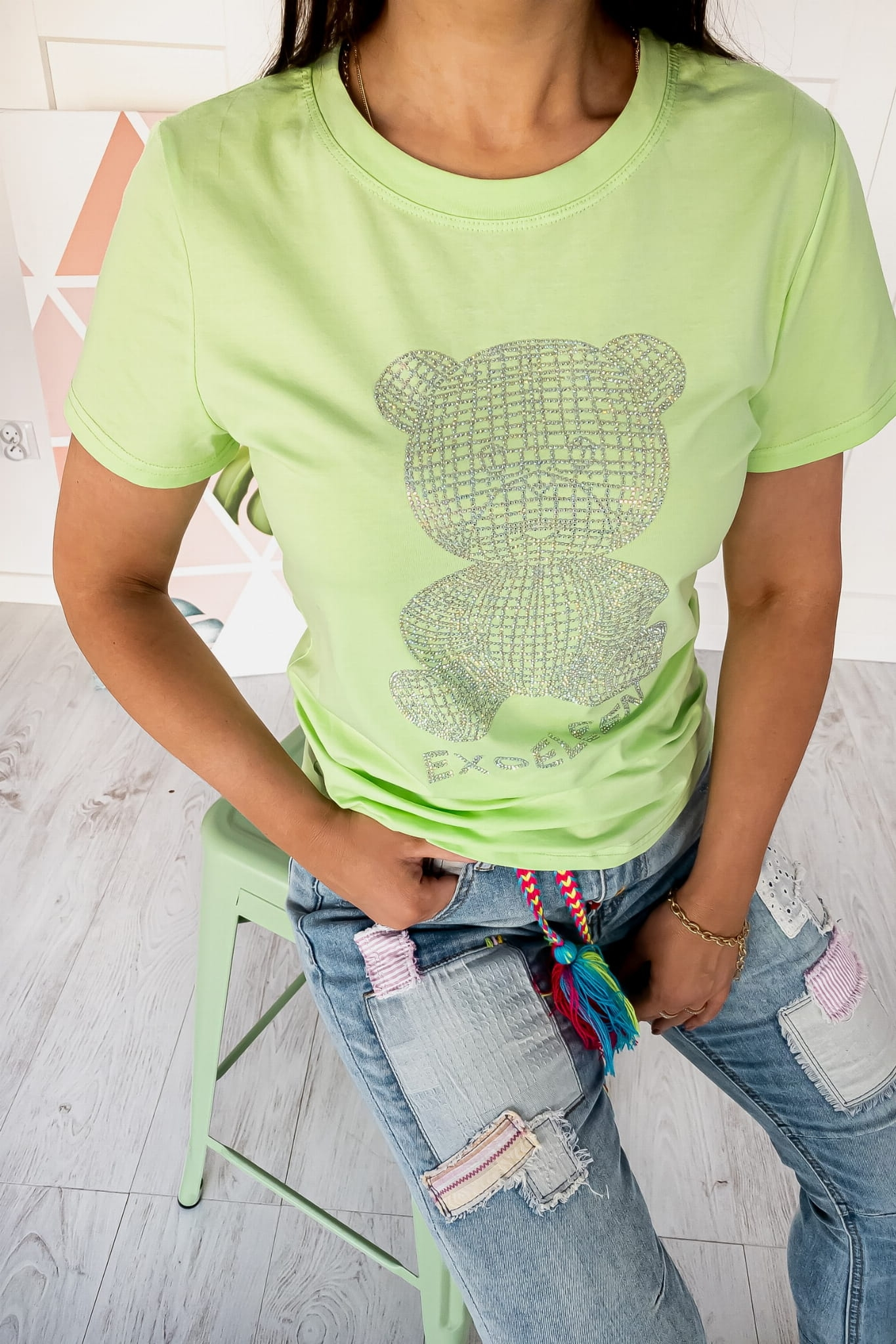 T-shirt Bear Green