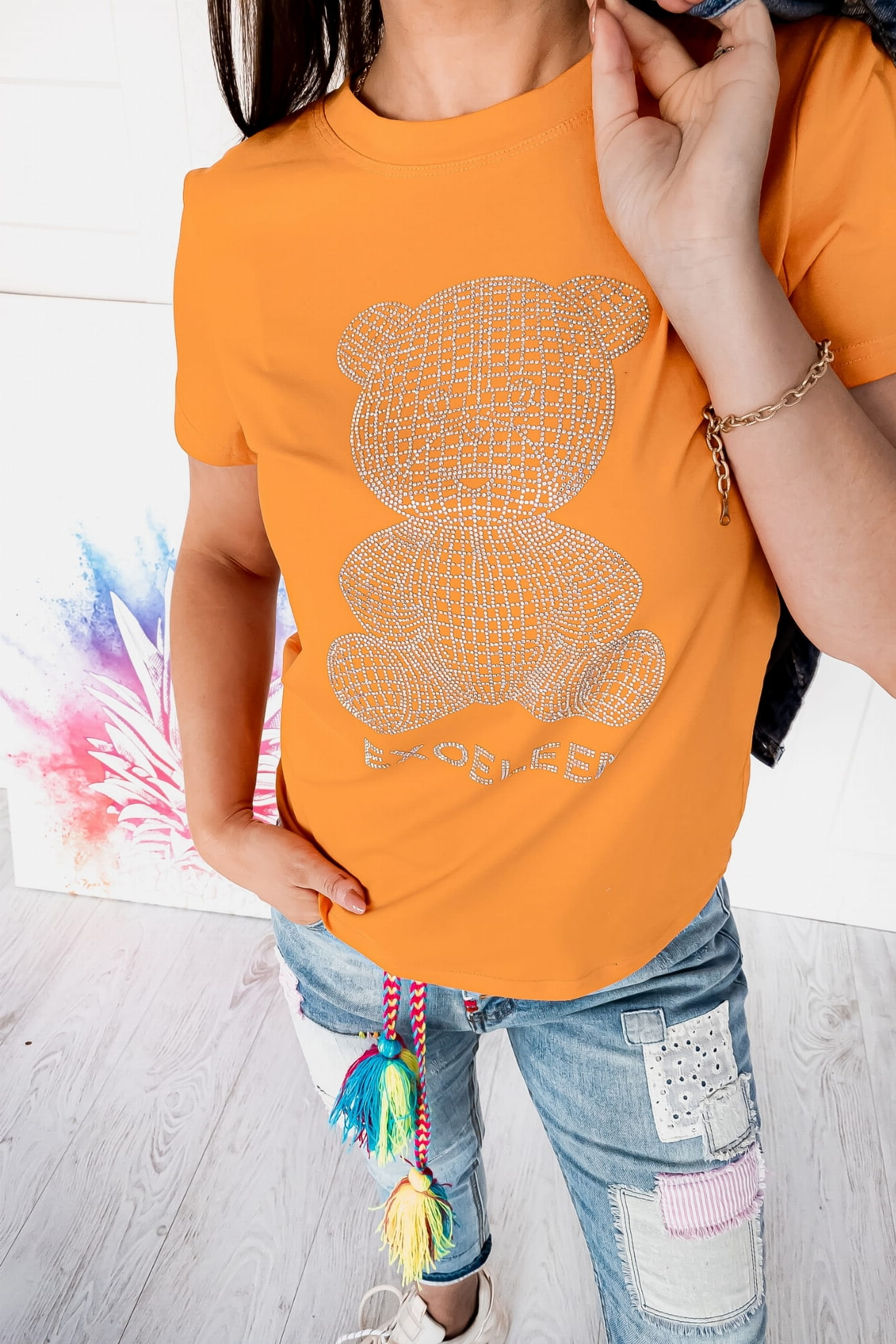 T-shirt Bear Orange